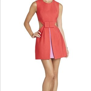 Side Cut-Out Bow-Front Dress
